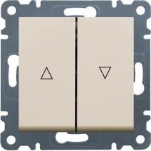 Выключатель для жалюзи Контактор HAGER LUMINA-2 WL0321 кремовый цвет