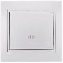 Выключатель перекрестный LEZARD MIRA 701-0202-107 белый