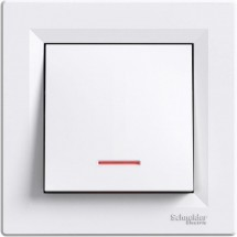Выключатель с подсветкой Schneider ASFORA белый EPH1400121