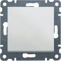 Выключатель универсальный 1-клавишный HAGER LUMINA-2 WL0020 белый цвет