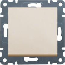 Выключатель универсальный 1-клавишный HAGER LUMINA-2 WL0021 кремовый цвет