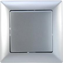Выключатель 1-кл серебристый металлик Visage 1281500100101