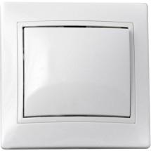 Выключатель 1-клавишный 10А ВВсб10-1-0-FI-W белый цвет Укрем АсКо