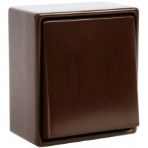 Выключатель 1-клавишный 5655 23001955 Hager / Polo универсальный коричневый цвет