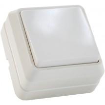 Выключатель 1-клавишный наружный Вз10-1-0-Сb-W белый АСКО
