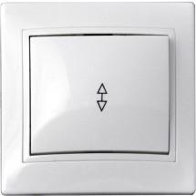 Выключатель 1-клавишный проходной 10А ВВпсб10-1-0-FI-W белый цвет Укрем АсКо