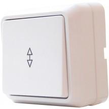 Выключатель 1-клавишный проходной наружный белый ВЗп10-1-0 Сb-W АСКО