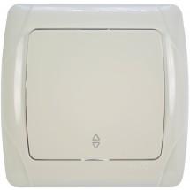Выключатель проходной 1-клавишный Viko Carmen 90561004 белый цвет