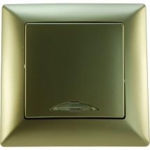 Выключатель 1кл. с подсветкой беж-металлик Visage 1282500100102