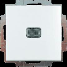 Выключатель 1-клавишный с подсветкой ABB Basic 55 20061 UCGL-94-507 белый цвет