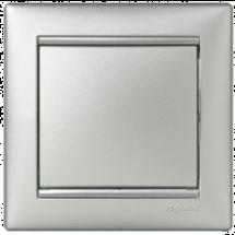 Выключатель 1-клавишный универсальный Legrand Valena 770106 алюминий