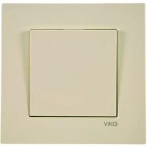Выключатель 1-клавишный Viko Karre кремовый цвет 90960101
