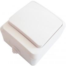 Выключатель 1-клавишный ВЗ10-1-IP44 белый АСКО