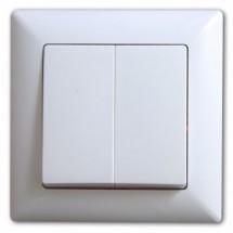Выключатель 2-клавишный 10А Gunsan Visage белый цвет 1281100100103