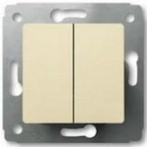 Выключатель 2-клавишный 10А Legrand Cariva  773705 слоновая кость