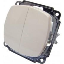 Выключатель 2-клавишный BB10 - 2-0 - Ov - W белый цвет Укрем АсКо