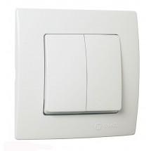 Выключатель 2-клавишный MAKEL Lilium Natural Kare 32001003 белый цвет