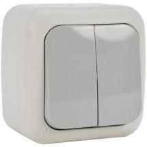 Выключатель 2-клавишный накладной Viko Palmiye IP54 90555402