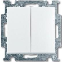Выключатель 2-клавишный с подсветкой ABB Basic 55  20065 UСGL-92-507 слоновая кость