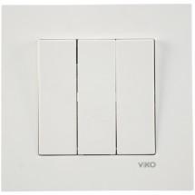 Выключатель 3-клавишный Viko Karre 90960068 белый