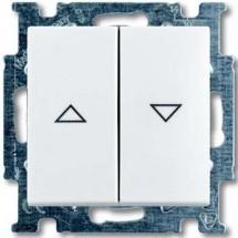 Выключатель для жалюзи без фиксации ABB Basic 55  20064 UC 94-507 белый цвет