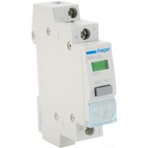 Выключатель кнопочный с фиксацией Hager 230В/16А 1NO SVN413  зеленый индикатор