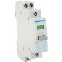 Выключатель кнопочный с фиксацией Hager 230В/16А 2NO SVN433 зеленый индикатор