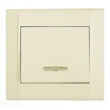 Выключатель с подсветкой MAKEL Defne 42010021 кремовый цвет