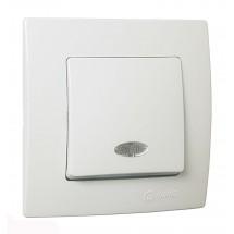 Выключатель с подсветкой MAKEL Lilium Natural Kare 32001021 белый цвет