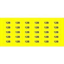 Знак 12В желтый Аско Укрем (45мм х20мм) SES03013