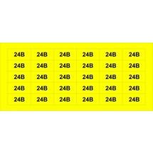 Знак '24В' желтый Аско Укрем (45мм х20мм) SES03012