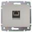Лицевая накладка телефонная 1-одинарная RJ12/RJ45 771395 Legrand Galea Life алюминий