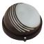 Светильник круглый пол-решетки Horoz HL907BL 60W, Е27, черный ІР54, Ø170х80мм