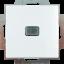 Выключатель 1-клавишный с подсветкой ABB Basic 55 2006/1 UCGL-94-507 белый цвет