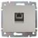 Лицевая накладка телефонная 1-одинарная RJ12RJ45 771395 Legrand Galea Life алюминий