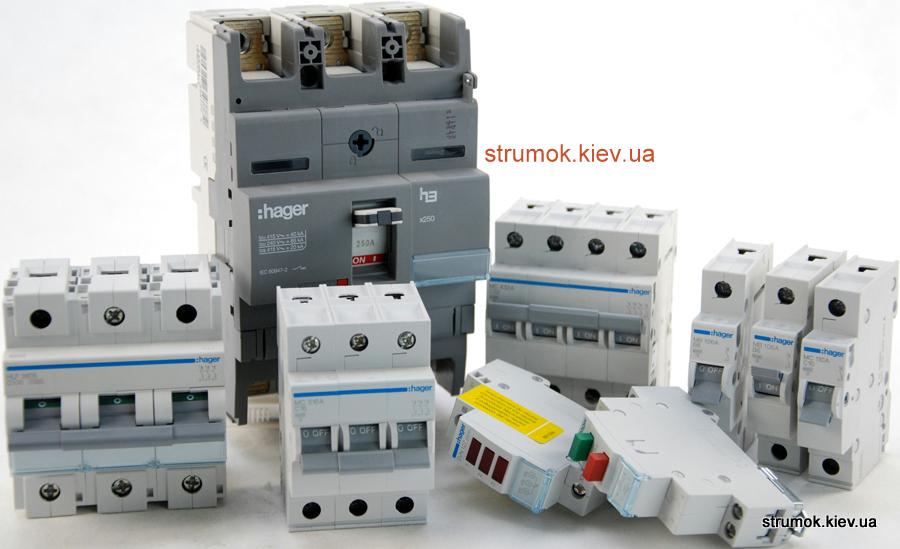 Автоматические выключатели, автоматические выключатели Hager